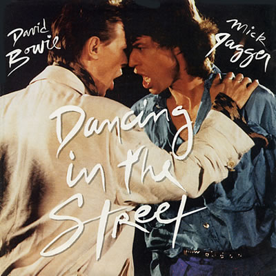 David Bowie with Mick Jagger - Dancing In The Street - Sleeve image