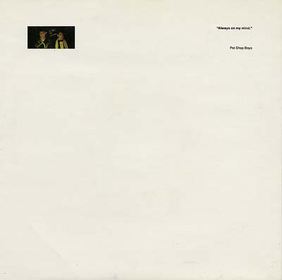 Pet Shop Boys - Always On My Mind - Sleeve image